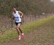 Mahamed Mahamed in the Senior Men's race